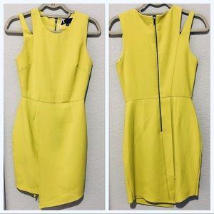 Adelyn Rae sleeveless sheath dress chartreuse